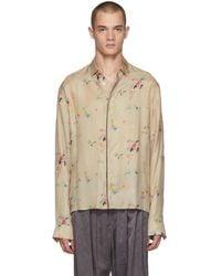 Haider Ackermann - Beige Freesia Classic Shirt - Lyst