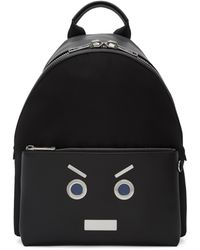 Fendi | Black ' Faces' Backpack | Lyst