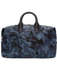 Alexander McQueen - Blue Medium Holdall Duffle Bag - Lyst