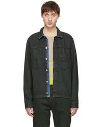 Nudie Jeans - Green Denim Ronny Jacket - Lyst