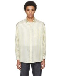 Sunnei - Yellow Striped Over Shirt - Lyst