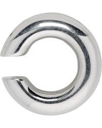 Saskia Diez - Silver Bold Ear Cuff - Lyst
