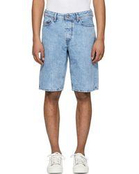 DIESEL - Blue Keeshort Denim Shorts - Lyst