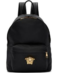Versace - Black Medusa Head Backpack - Lyst