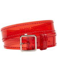 Maison Margiela - Red Transparent Wrap Bracelet - Lyst