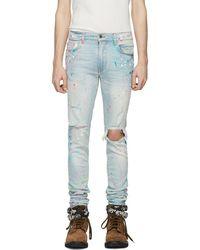 Amiri - Indigo Graffiti Jeans - Lyst