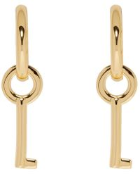 Marc Jacobs - Gold Keyring Mini Hoop Earrings - Lyst