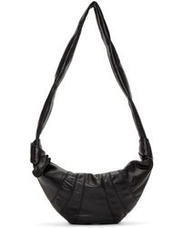Lemaire - Black Leather Small Bum Bag - Lyst