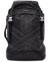 DIESEL - Black L-blaid Ranner Backpack - Lyst