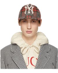 Gucci - Multicolour Ny Yankees Edition Plaid Patch Cap - Lyst