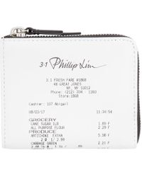 3.1 Phillip Lim - White Mini Receipt Zip Around Wallet - Lyst