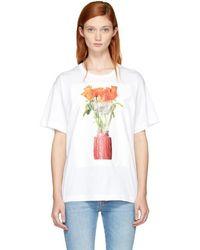Ports 1961 - White Flowers T-shirt - Lyst