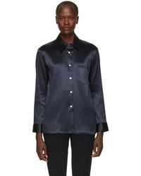 Mansur Gavriel - Blue Linen Shirt - Lyst