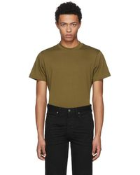 Helmut Lang - Green Skinny Tall Military T-shirt - Lyst