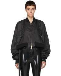 Unravel   Black Ghost Reconstructed Chop Bomber Jacket   Lyst