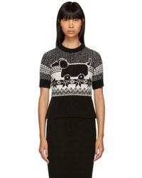 Thom Browne - Black And White Mohair Hector Toy Sweater - Lyst