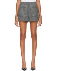 Thom Browne - Grey Backstrap Mini Shorts - Lyst