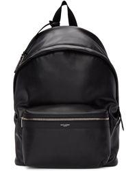 Saint Laurent - Black Leather City Backpack - Lyst