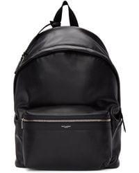 daa794a51259 Saint Laurent - Black Leather City Backpack - Lyst