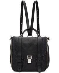Proenza Schouler - Black Ps1and Zip Backpack - Lyst
