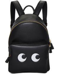 Anya Hindmarch - Black Mini Eyes Backpack - Lyst