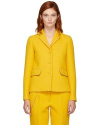 Bottega Veneta - Yellow Embroidered Chain-link Blazer - Lyst