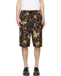 McQ - Black Floral Track Shorts - Lyst