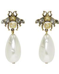 Gucci - Gold Bee Earrings - Lyst