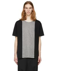 Comme des Garçons - Black And Grey Panelled T-shirt - Lyst