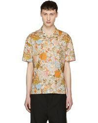 Burberry - Orange Botanical Floral Harley Shirt - Lyst