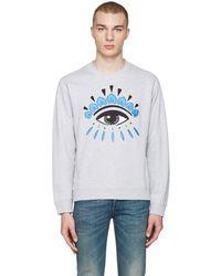 KENZO - Grey Eye Pullover - Lyst