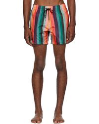 Paul Smith - Multicolor Artist Stripe Swim Shorts - Lyst
