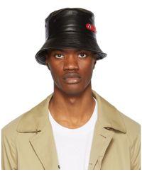 Alexander McQueen - Black Lambskin Bucket Hat - Lyst
