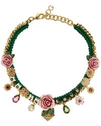 Dolce & Gabbana - Green Dg Is Love Necklace - Lyst