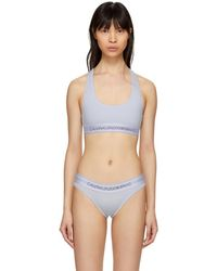 CALVIN KLEIN 205W39NYC - Blue Cotton Logo Collection Bralette - Lyst