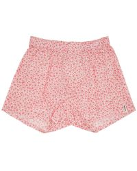 Druthers - Pink And White Micro Floral Boxers - Lyst