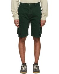 Acne Studios - Green Sheen Over Shorts - Lyst