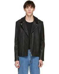 HUGO - Black Lovell Biker Jacket - Lyst