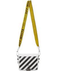 Off-White c/o Virgil Abloh - White Diagonal Binder Clip Flap Bag - Lyst