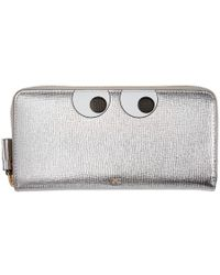 Anya Hindmarch - Silver Large Eyes Zip Around Wallet - Lyst