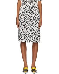 Ashley Williams - Black And White Scribble Slip Skirt - Lyst
