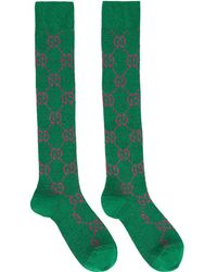 Gucci - Green And Pink GG Supreme Socks - Lyst