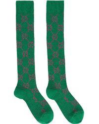 Gucci - GG Supreme Intarsia Lurex Socks - Lyst