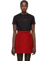 Miu Miu - Black We Cant Always Be Nice Girls T-shirt - Lyst