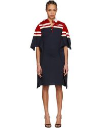 Y. Project - Red And Navy Striped Polo Dress - Lyst