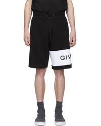 Givenchy - Black Embroidered Logo Shorts - Lyst