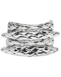 Bottega Veneta - Silver Woven Rings - Lyst