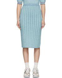 Marc Jacobs - Blue Lurex Pencil Skirt - Lyst