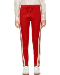 Étoile Isabel Marant - Red Doriann Stirrup Lounge Trousers - Lyst