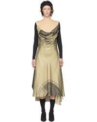 Marine Serre - Beige Silk Moon Scarves Long Dress - Lyst